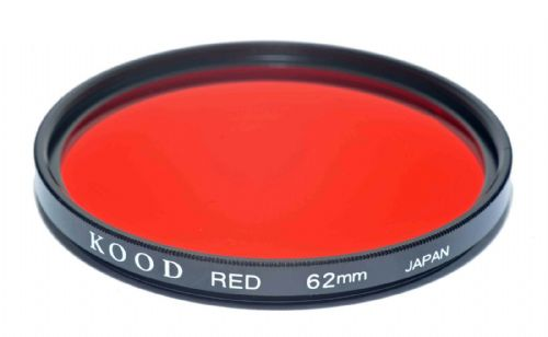 Kood High Quality Optical Glass Red Filter Made in Japan 62mm